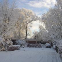 Aankomst Kleikoel in de winter