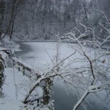 Zicht op viswater Boomklever in de winter
