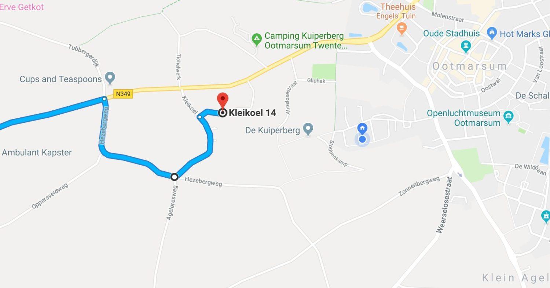 Routebeschrijving Kleikoel